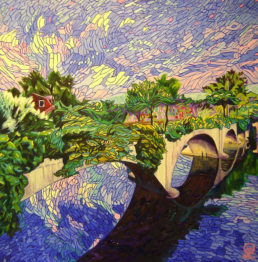 Shelburne Falls Painting - The Bridge of Flowers by Therese Legere