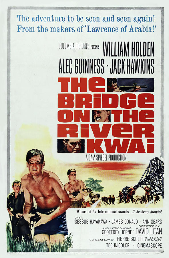 the Bridge On The River Kwai Poster 1957 Mixed Media
