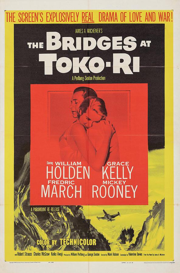 the Bridges At Toko-ri Poster 1959 Mixed Media