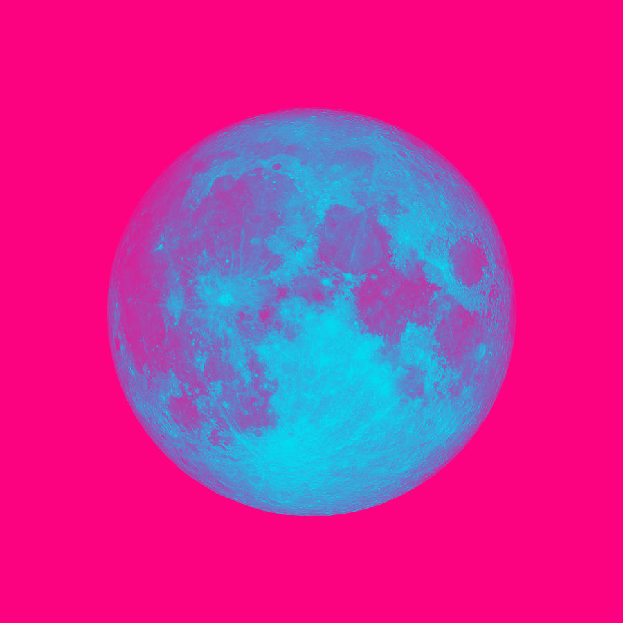 The bright side of the pink Moon by Ahmet Asar
