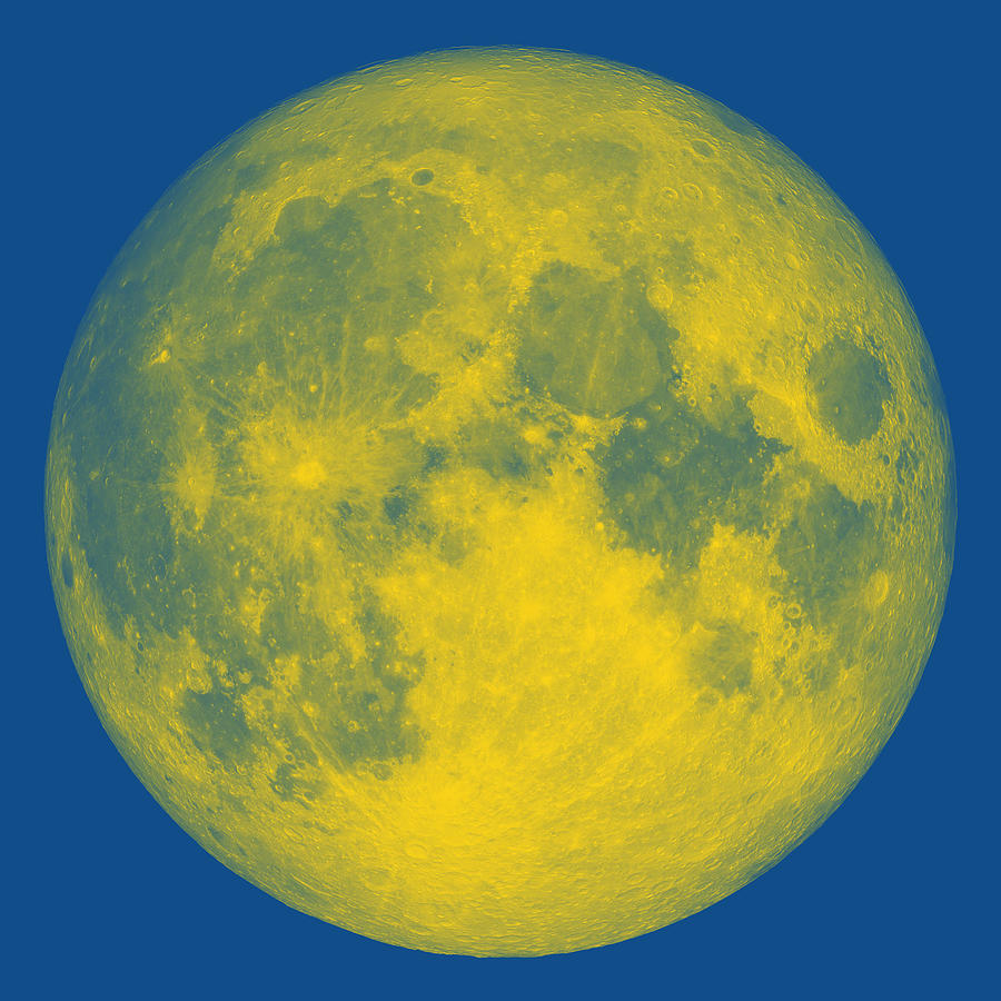 The bright side of the yellow Moon by Ahmet Asar