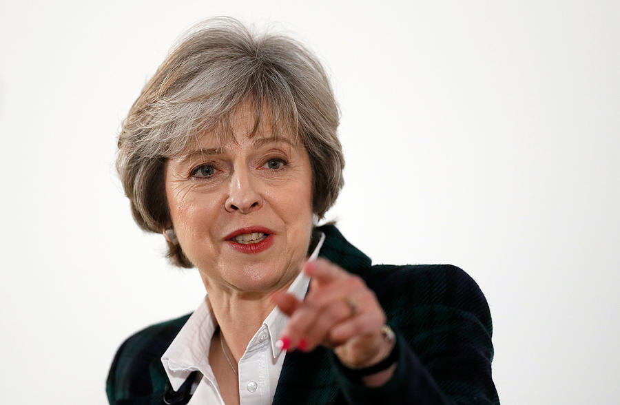 The British Prime Minister Delivers Her Brexit Speech Photograph by WPA Pool