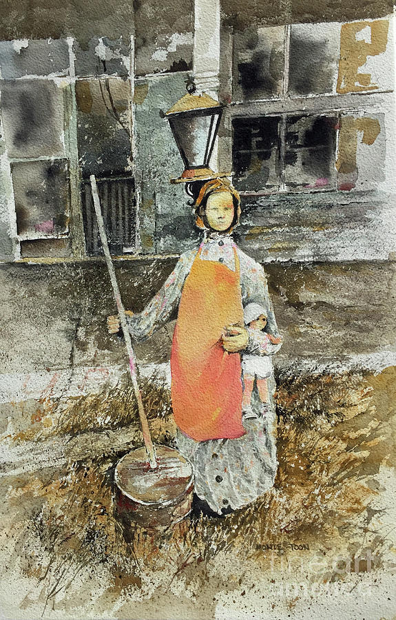 The Butter Churner Of Melrose Painting by Monte Toon