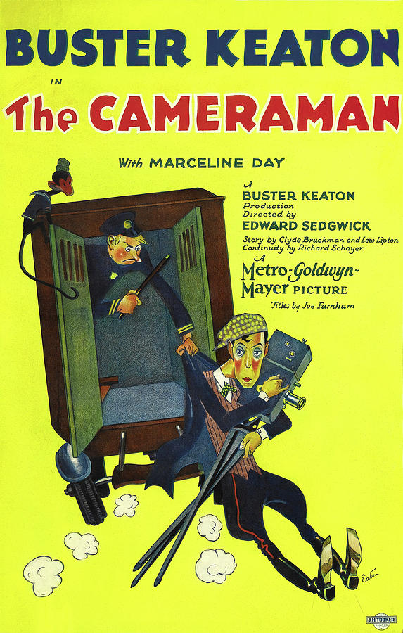 the Cameraman - 1928 Mixed Media