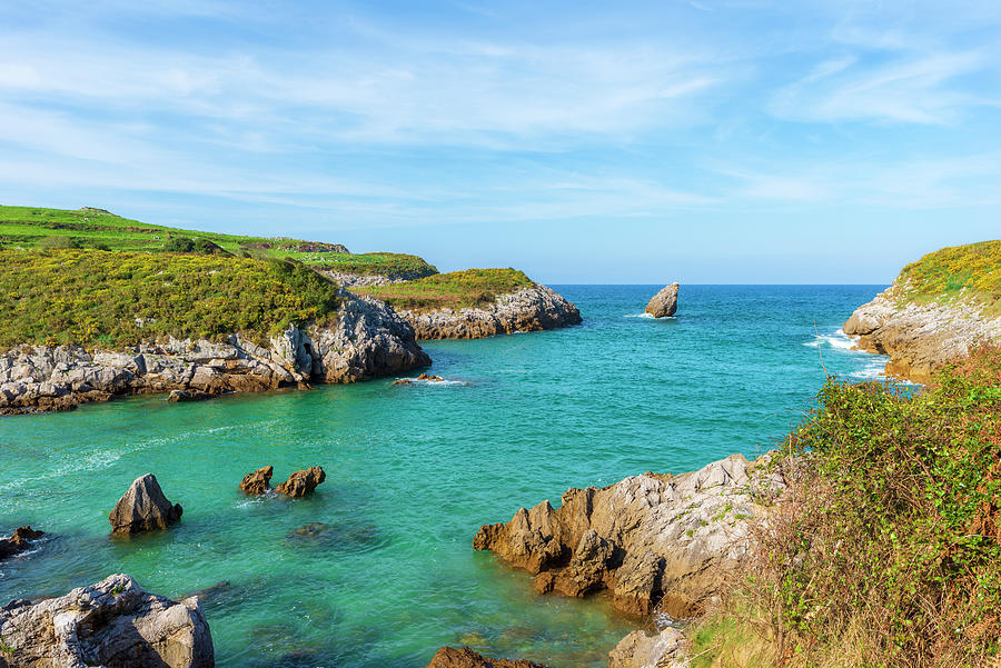 Color Photograph - The Cantabrian Coast By Llanes, Asturias by Vicen Photography