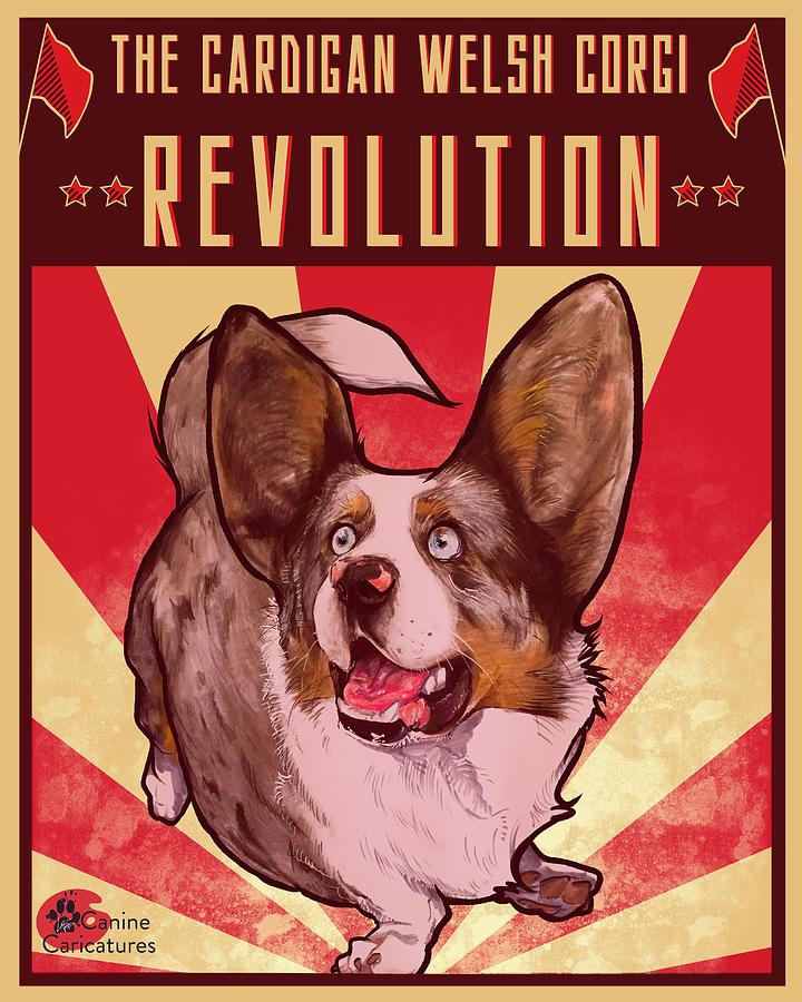 The Cardigan Welsh Corgi Revolution Drawing