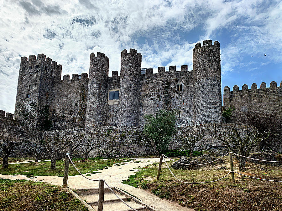 Castle Photograph - The Castle at Obidos by Jill Love