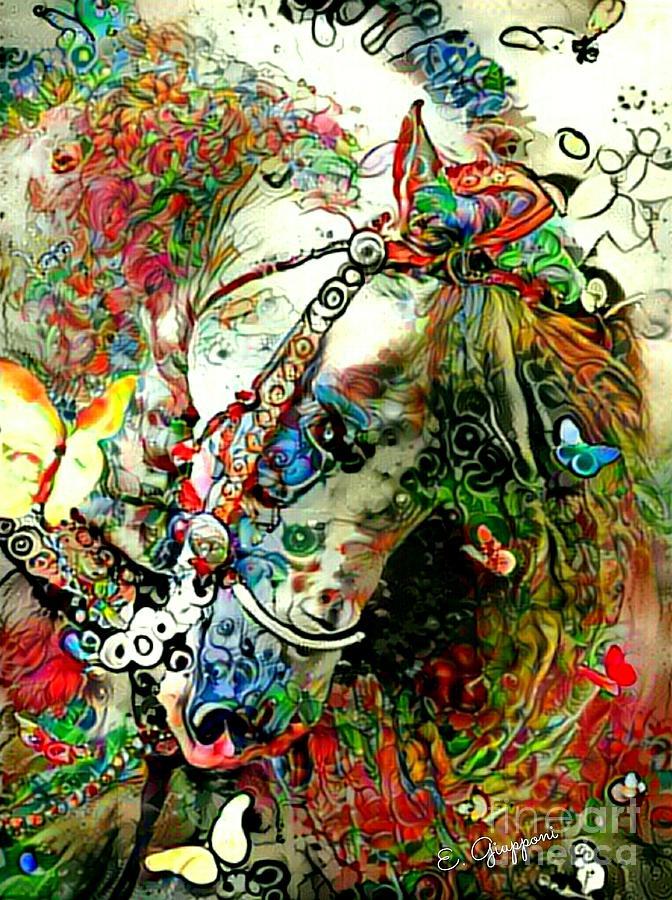 Western Mixed Media - The Champion by Elizabeth Giupponi
