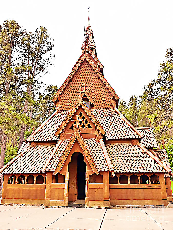 The Chapel in the Hills Black Hills of South Dakota by Tracy Ruckman