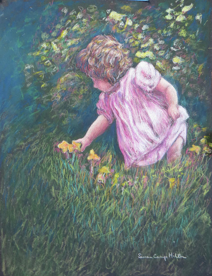 Little Girl Pastel - The Choice by Susan Camp Hilton