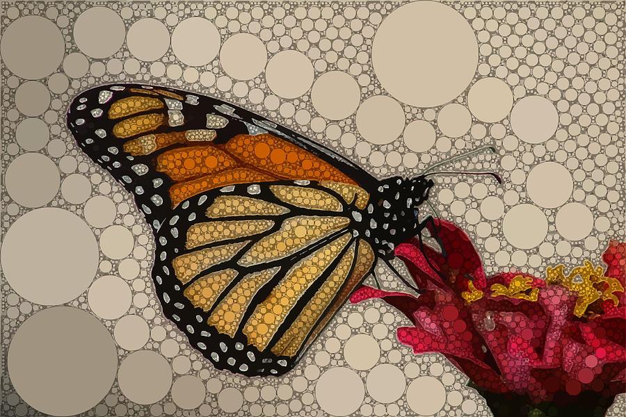 Brown Digital Art - The Circular Monarch by Dahl Winters