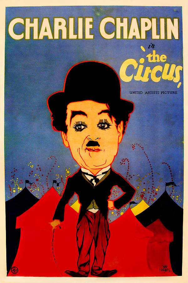 the Circus, With Charlie Chaplin, 1928 Mixed Media