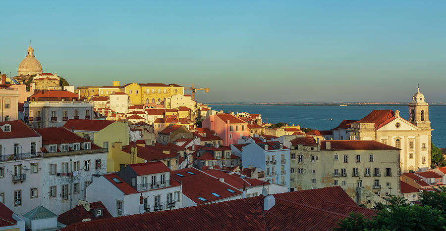 Lisboa Photograph - The City Of Portugal With The Pit In The Background by Vicen Photography