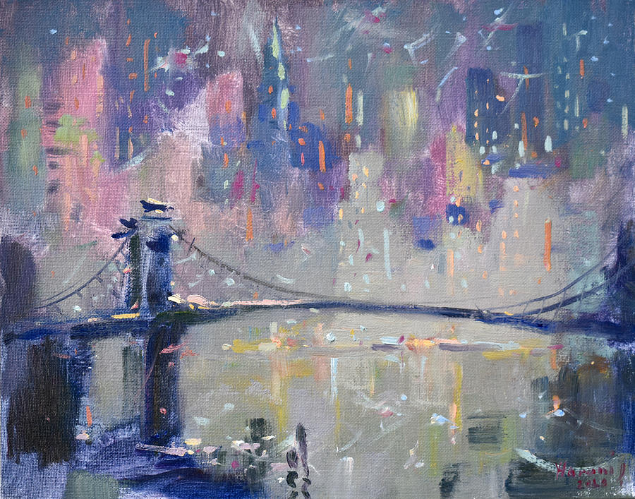 Ny City Painting - The City That Never Sleeps 2 by Ylli Haruni