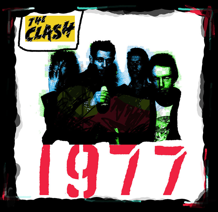 The Clash 1977 Song Painting