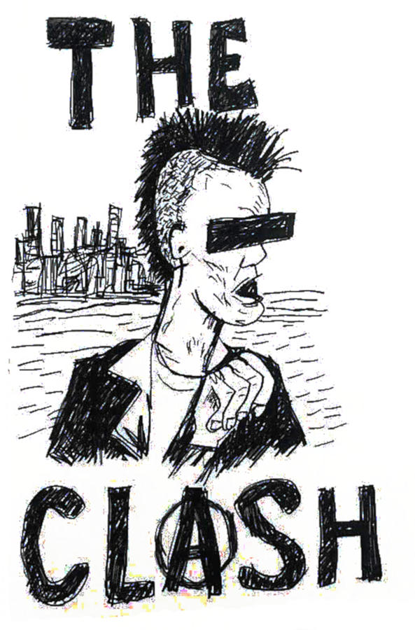 The Clash America Drawing Drawing