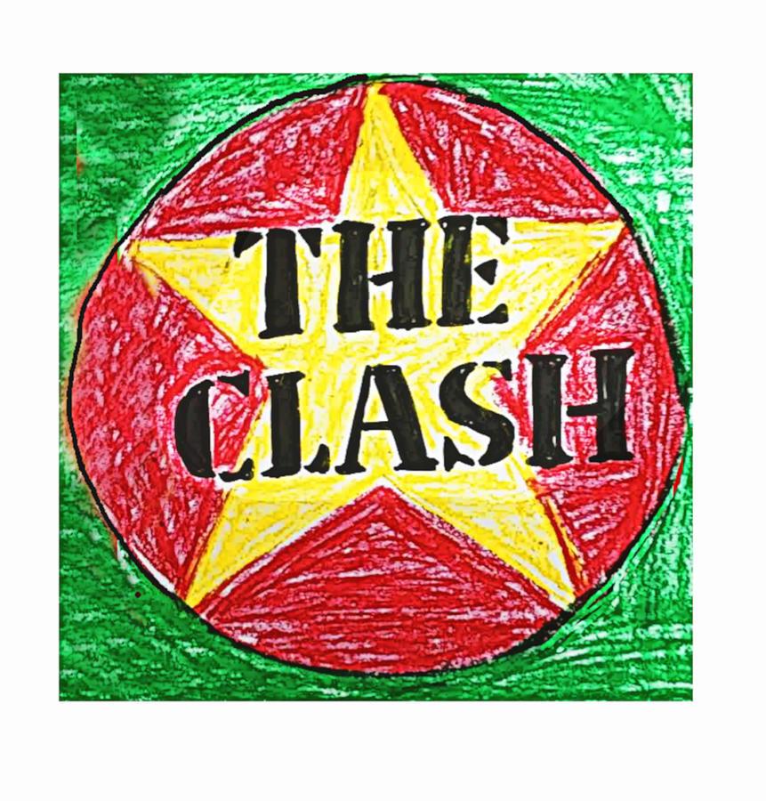 The Clash Pastel Drawing Logo Pastel