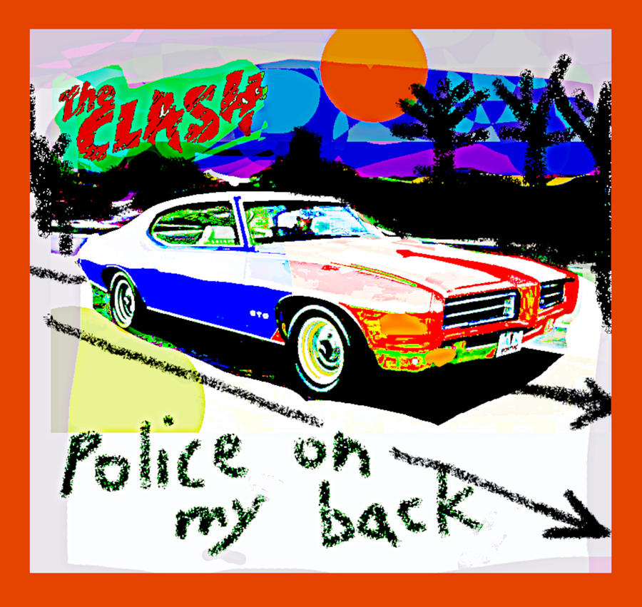 The Clash Police on my back 1980  by Enki Art