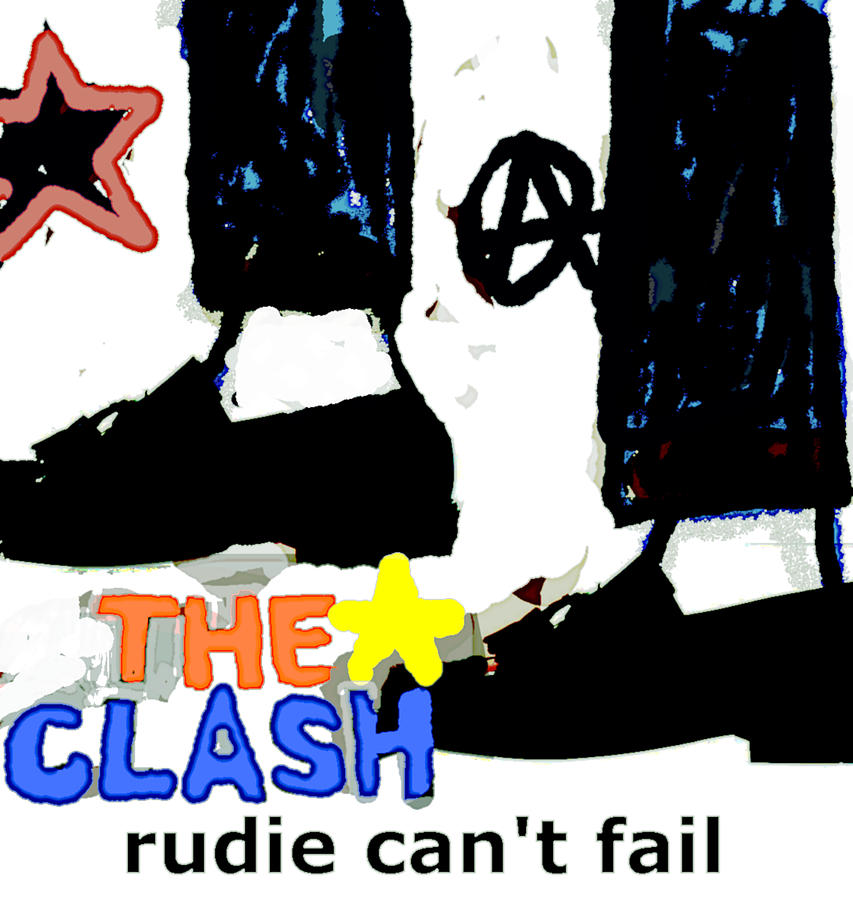 The Clash Rudie Cant Fail 1979 Painting
