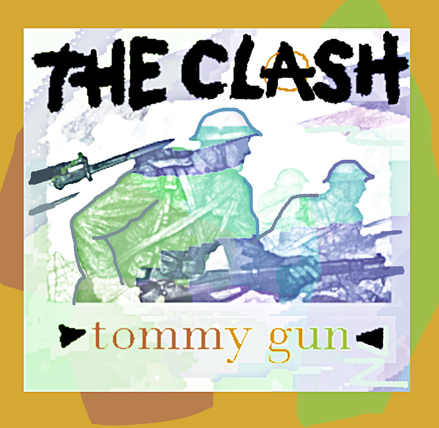 The Clash Tommy Gun 1978 Drawing