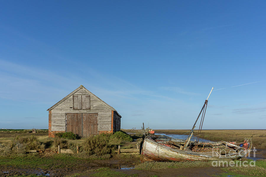 The Coal Barn And Wreck At Thornham Staithe Photograph