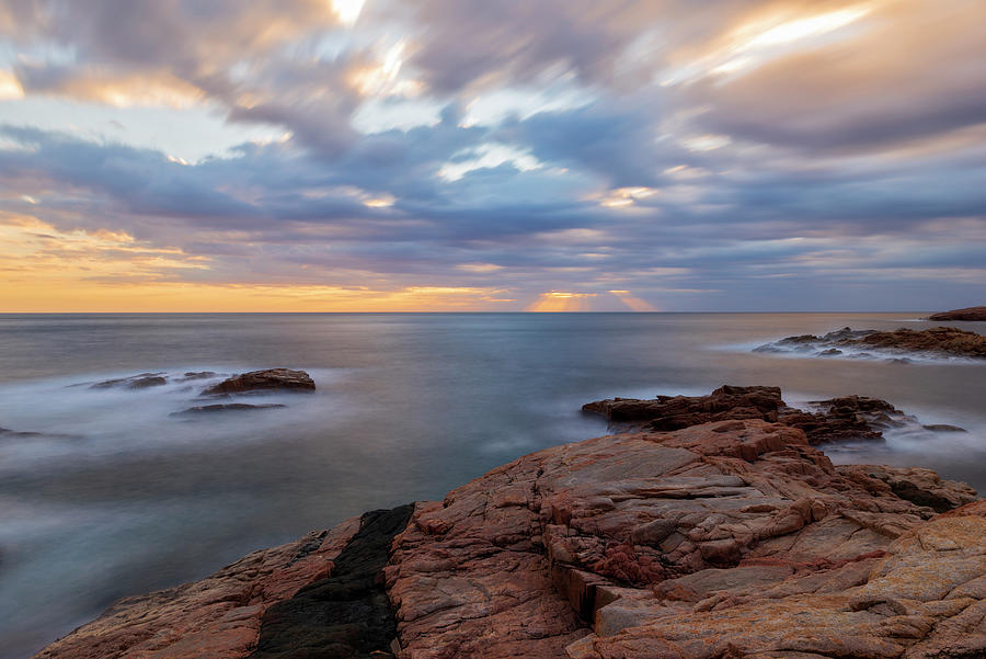Begur Photograph - The Coast Of Begur At Sunrise In Long Exposure by Vicen Photography