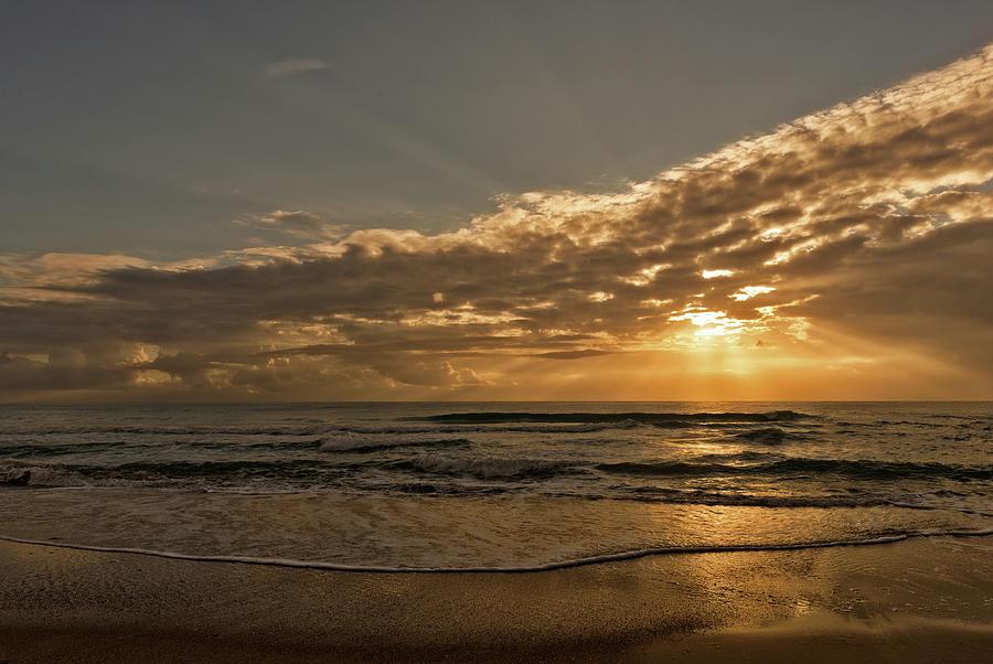 The Coast Of Benicasim At Sunrise, Castellon Photograph