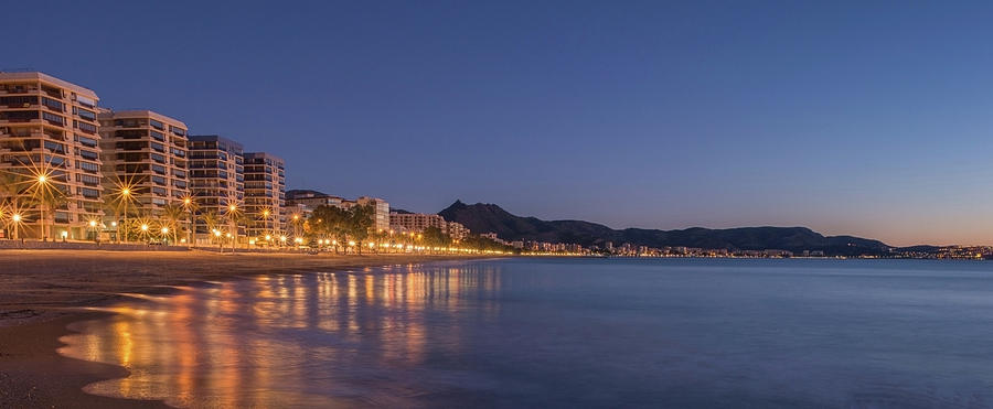 Landscapes Photograph - The Coast Of Benicassim By Night by Vicen Photography