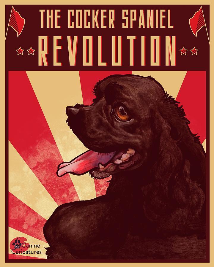 The Cocker Spaniel Revolution Drawing