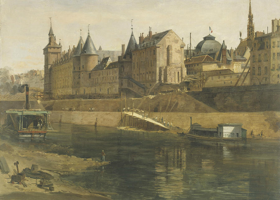 The Conciergerie During the Reconstruction  by Adrien Dauzats