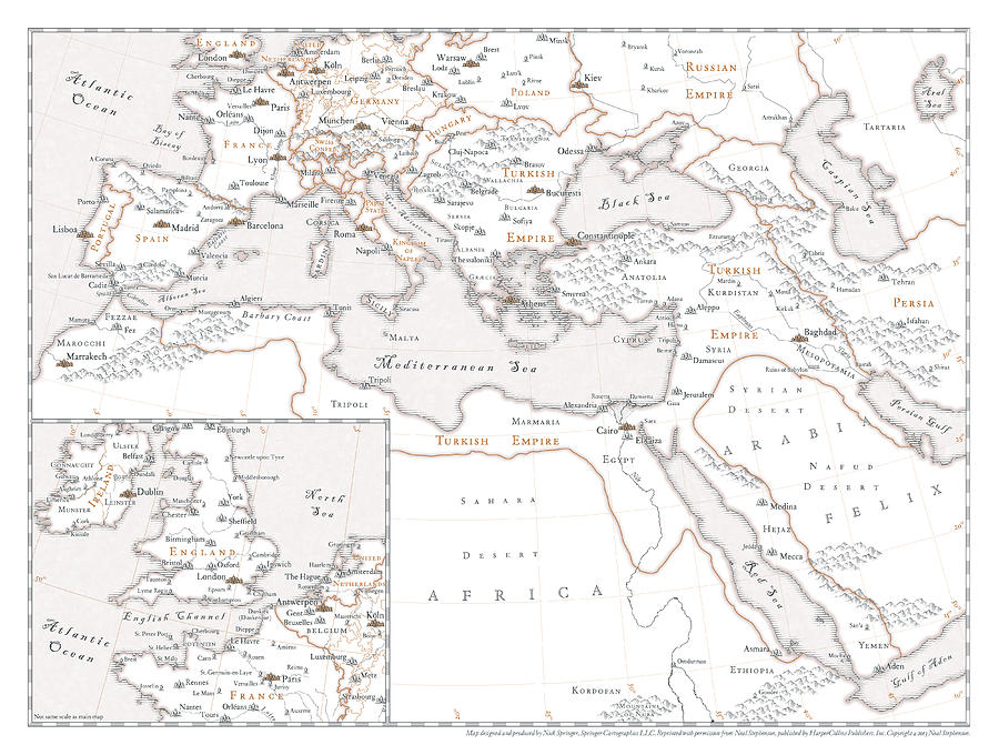 Map Digital Art - The Confusion - Europe, Middle East by Nick Springer