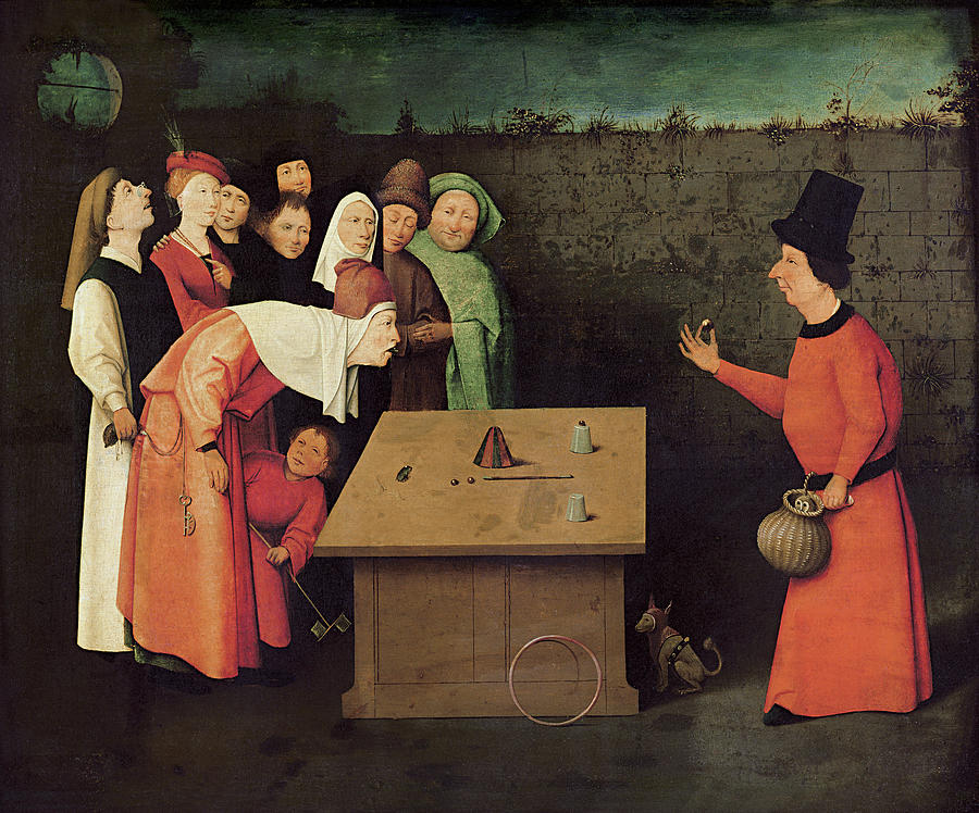 Bosch Painting - The Conjurer by Hieronymus Bosch