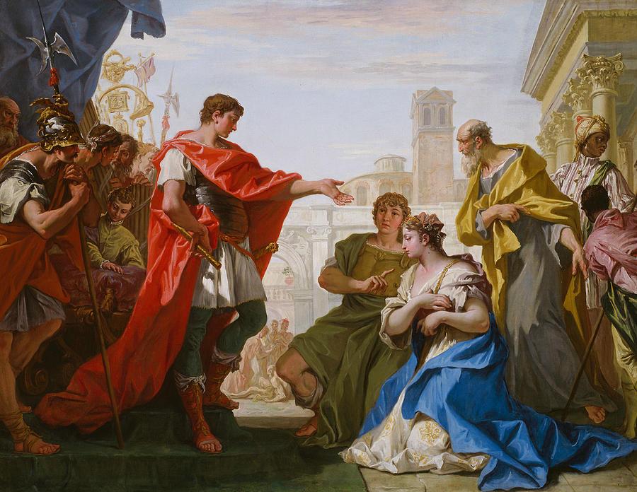 Italian Painters Painting - The Continence Of Scipio by Sebastiano Ricci