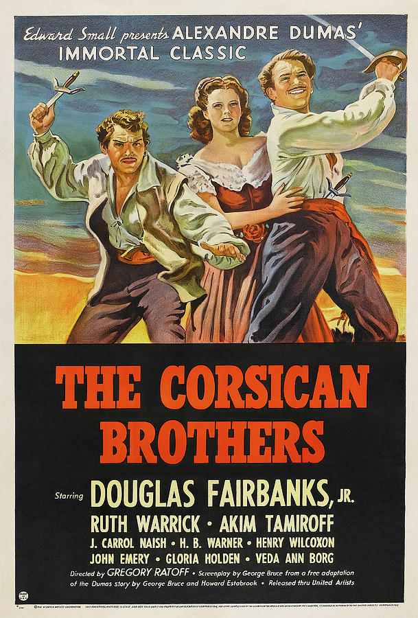 the Corsican Brothers, With Douglas Fairbanks, Jr. 1941 Mixed Media