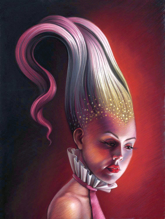 Feminine Painting - The Countess Ova Rose by Melanie Stimmell Van Latum