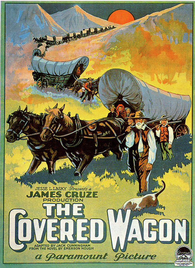 the Covered Wagon Movie Poster 1923 Mixed Media