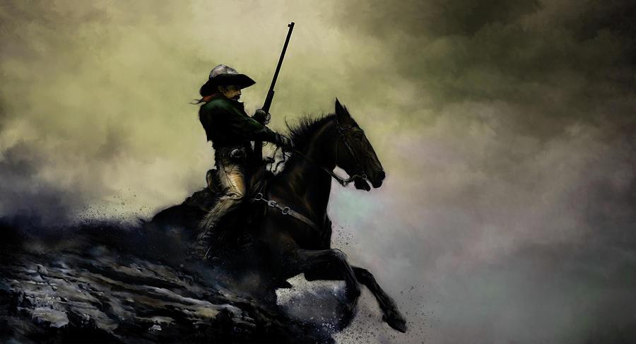 Cowboy Digital Art - The Cowboy by David Willicome