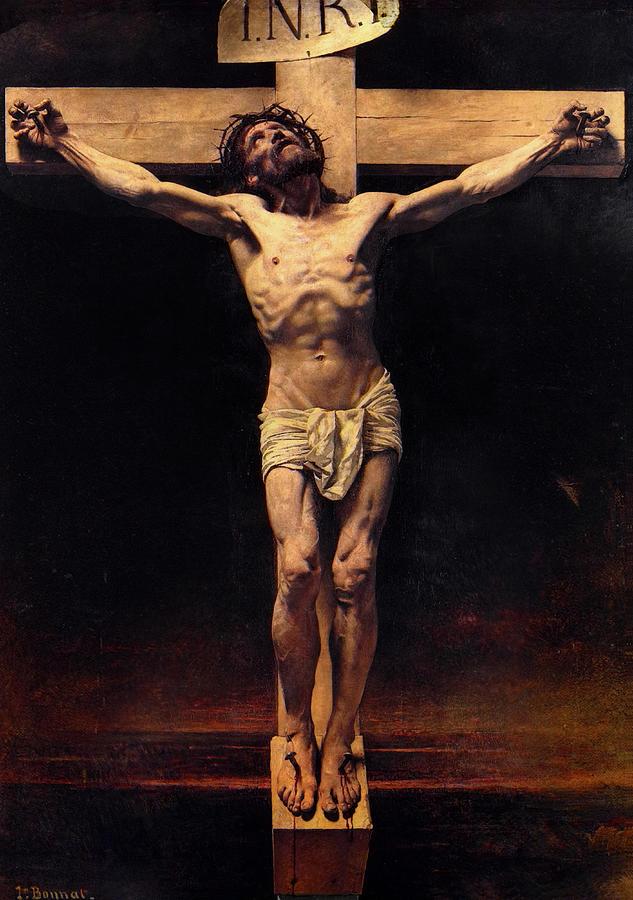 Leon Bonnat Painting - The Crucifixion by Leon Bonnat