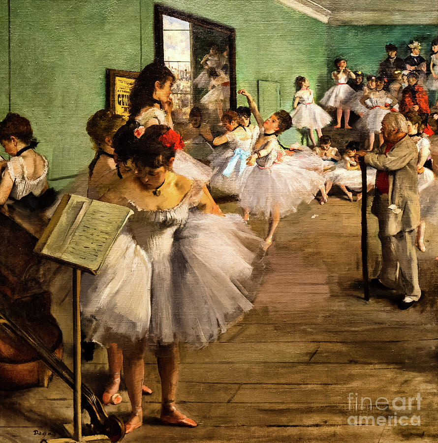 The Dance Class 1874 by Degas by Edgar Degas