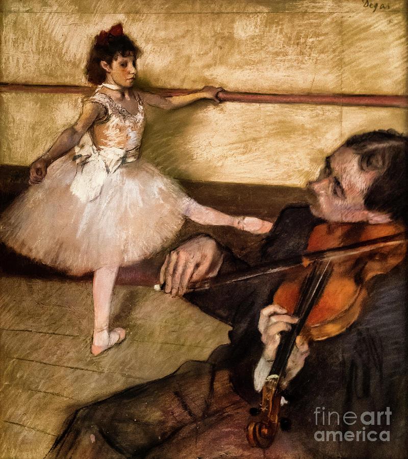 The Dance Lesson 1879 by Degas by Edgar Degas