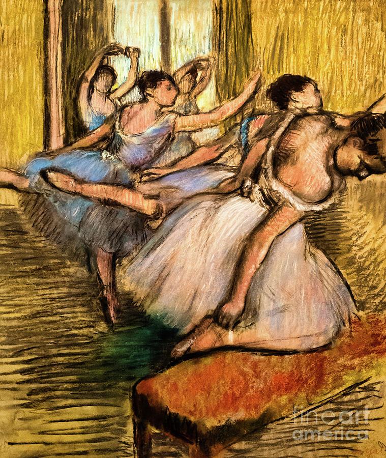 The Dancers 1900 by Degas by Edgar Degas