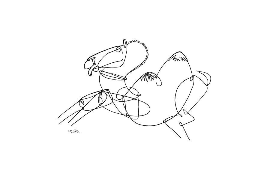 The Dancing Camel,1099B, 27x40, Ink on paper, ArtGuru ...