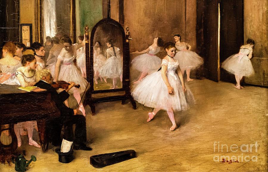 The Dancing Class 1870 by Degas by Edgar Degas