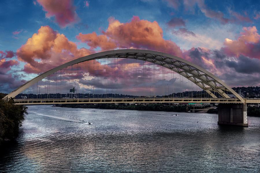 The Daniel Carter Beard Bridge at Sunset Photograph by ...
