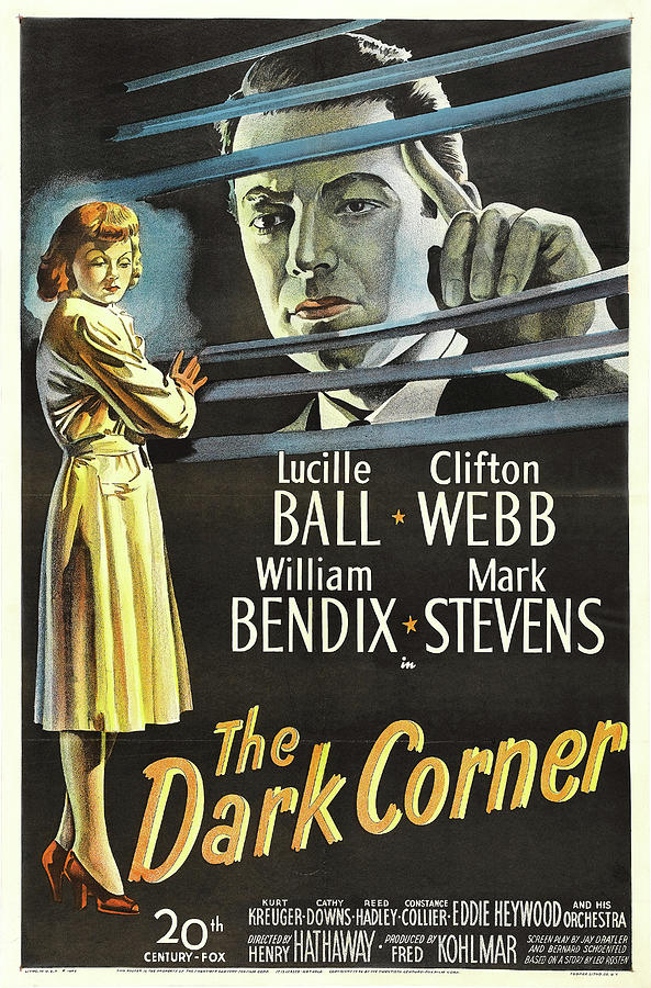 the Dark Corner, With Lucille Ball And Clifton Webb, 1946 Mixed Media