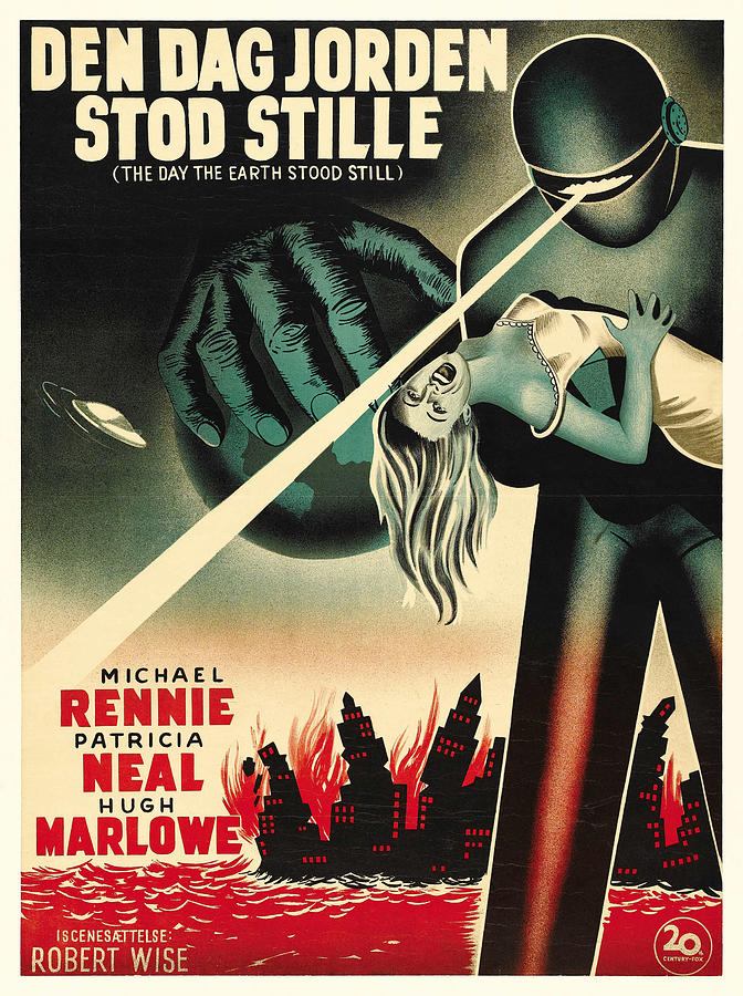 the Day The Earth Stood Still, With Patricia Neal, 1951 Mixed Media