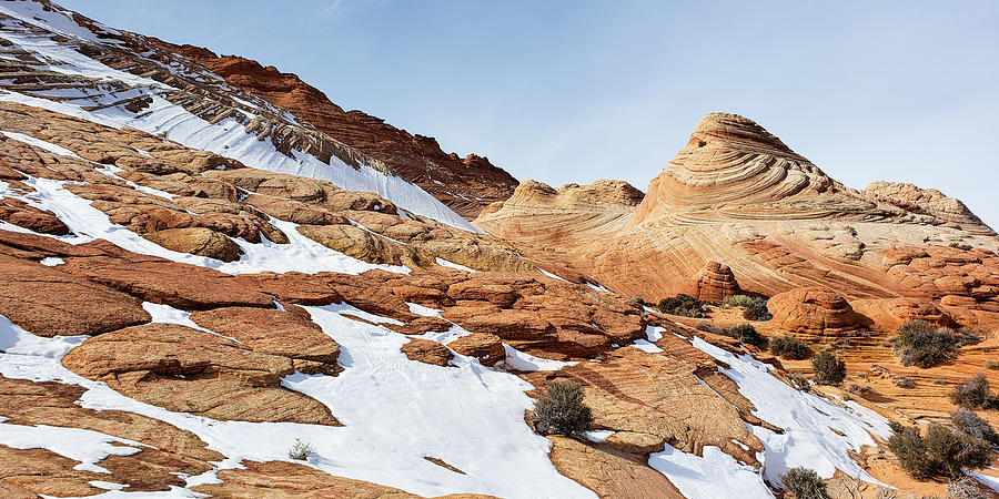 The Desert Wears White - Coyote Buttes Photograph