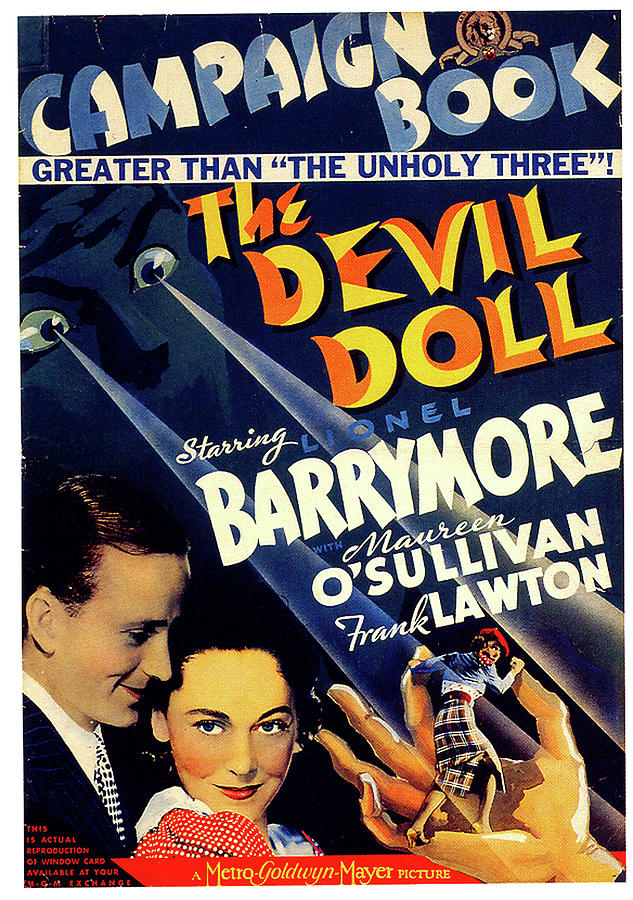 the Devil Doll Movie Poster 1936 Mixed Media
