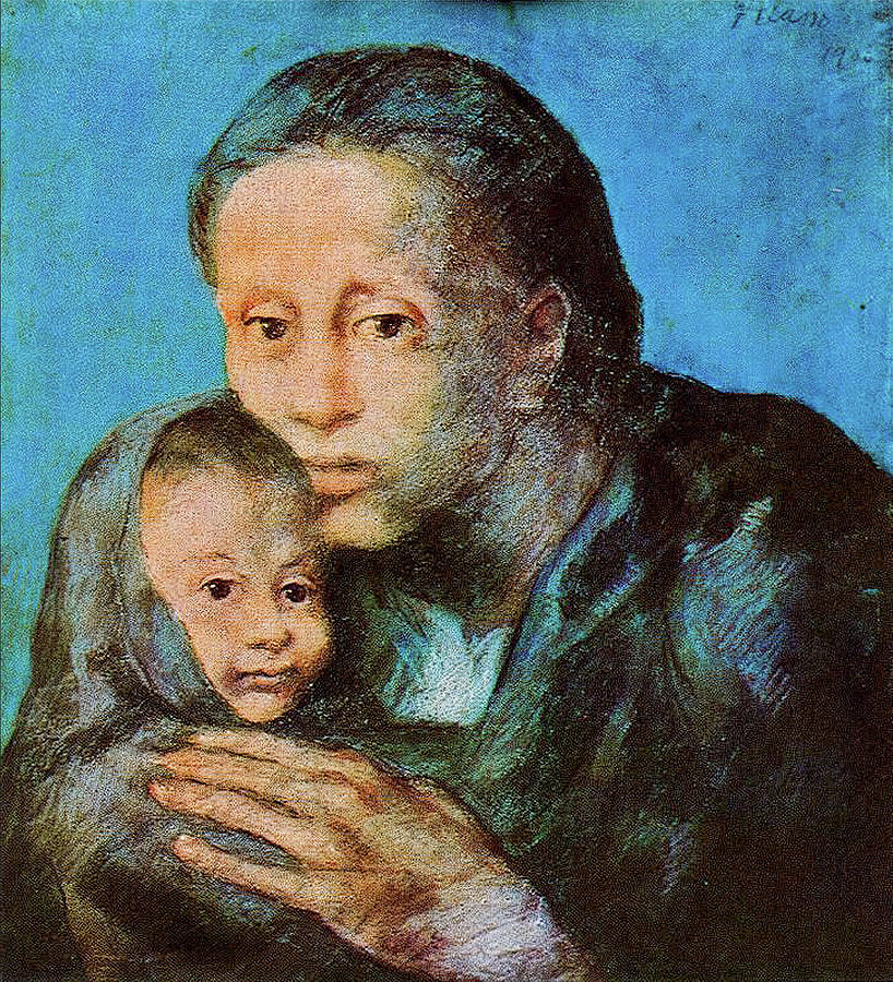Picasso Pastel - The Disinherited Ones by Eric Glaser
