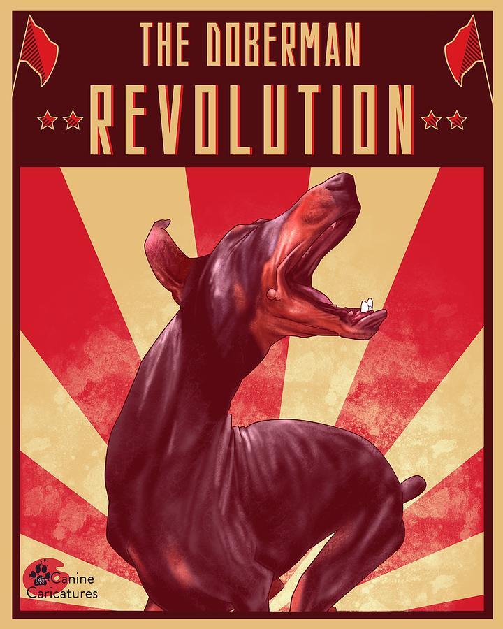 The Doberman Revolution Drawing